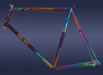 stars and planets anodized bicycle art