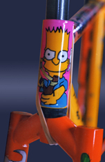 bart simpson tribute hand painted bike
